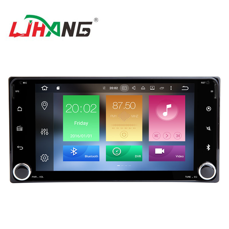 LJHANG android 9.0 2 + 16g quad core auto multimedia atuoradio gps video cd-player für toyota hilux/fortuner mit hinten kamera