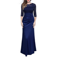 mother women plus size prom pleated sexy elegant party lace maxi vintage turkish long evening wear dresses of the bride clothing