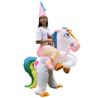 Best price inflatable costumes walking mascot unicorn inflatable costumes for kids halloween costumes