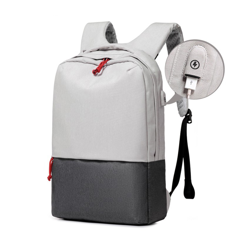 Custom New Design Leisure 15.6Inch Student Man Girls Pink Black USB School  Laptop Bag Back Rucksack