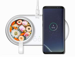 Ready Stock 2 in 1 Fast Charging Wireless Charger Seasonal Color with Coffee warmer