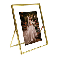 Wholesale Modern style Plating metal gold wedding photo frame wedding present 4X6 5x7 6x8 11x14 metal photo picture frame
