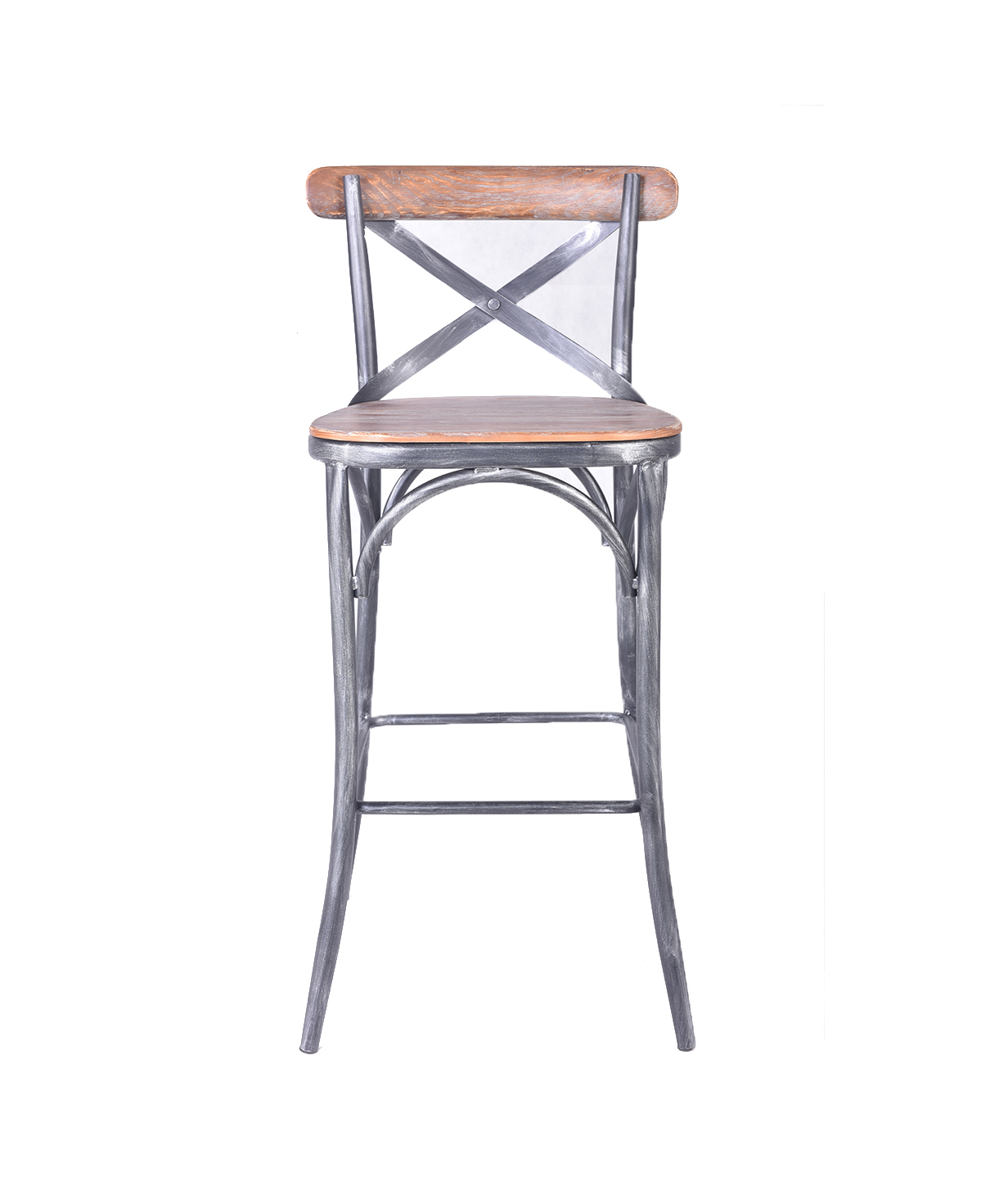 French Style X Back Bar Chair In