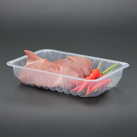 Eco-friendly Plastic Disposable PP/PET/PLA Clear Packaging Plastic Chicken Meat Tray