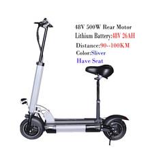 48 в 500 Вт Электрический скутер 100 км Расстояние 26ah батарея Patinete Electrico Adulto складной самокат электрический скейтборд велосипед(Китай)