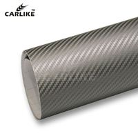 CARLIKE 5x98FT Sticker Vinyl 3d Carbon Fiber Car Wrap