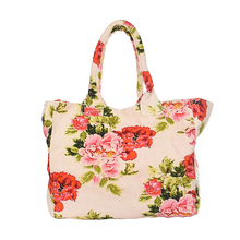 Nuove Donne di Lusso Fancy Naturale <span class=keywords><strong>Tela</strong></span> di Cotone Shopping Bag Sacchetto di Tote Shopping Bag <span class=keywords><strong>Multi</strong></span> Colore Stampato Organico