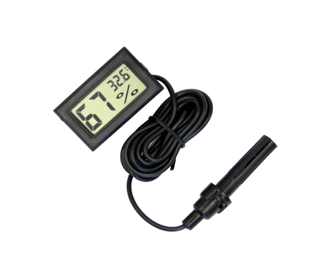 Mini Ingebed Hoge Nauwkeurigheid Digitale Kippenei Incubator Thermometer Met Hygrometer