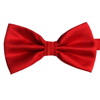 Wholesale Red Silk Self Wedding Bow Ties For Men/Boys