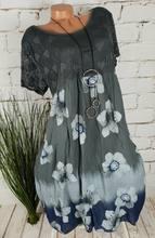 Плюс размер женское кружевное платье 2020 летнее новое платье повседневное с круглым вырезом с коротким рукавом женское длинное платье с при...(Китай)