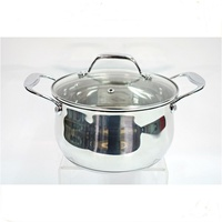 MSF belly shape stainless steel soup pot with zinc alloy handles and knob MSF-8304-1