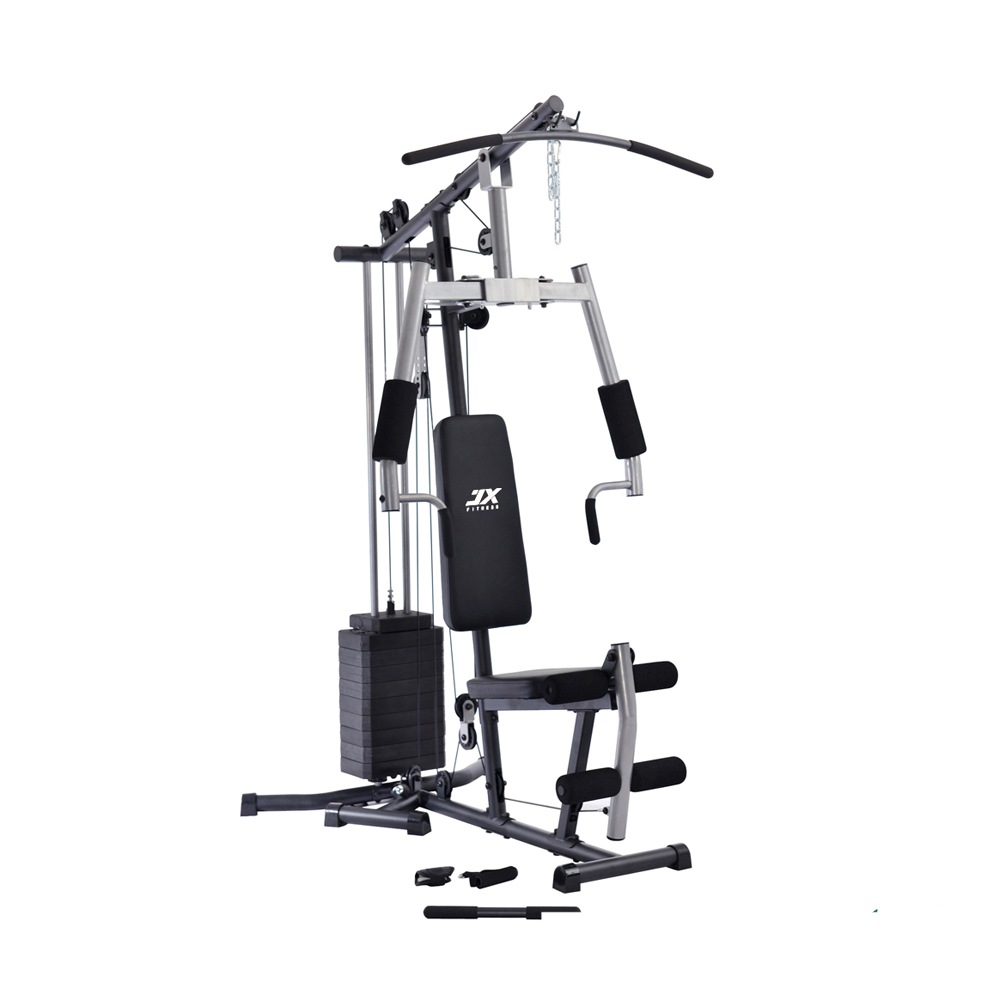 Jx-187f Fitness Equipment Home Gym With Single Station And 98lbs Vinyle Weight Stack For Home Use - Buy Fitness Home Gym,One Station Home Gym,Gym Machine Prices Product on Alibaba.com