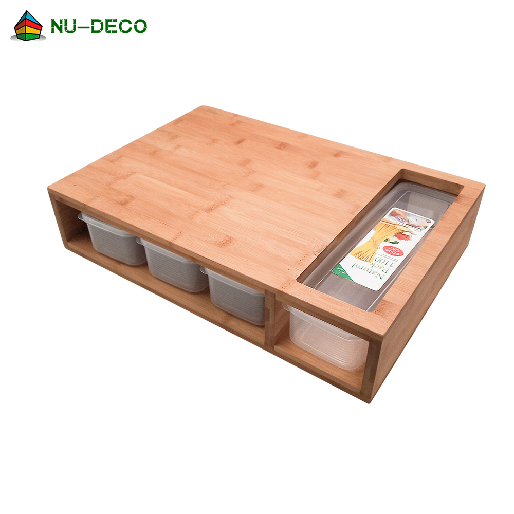 인기있는 대형 야채 유기 맞춤 주방 대나무 절단 도마 컨테이너 트레이 서랍
