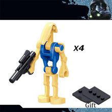 KSZ Звездные войны Дарт Вейдер белый солдат куклы игрушка Монтессори строительные блоки кирпичи Lepinblock Звездный план войны игрушки для детей(China)