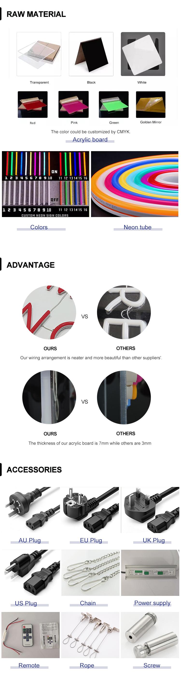 مصنع الجملة حار بيع عالية الجودة داخلي النيون فليكس العلامات شعار مخصص النيون تصميم