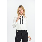 Solid color long sleeve women formal white blouse ladies office shirt