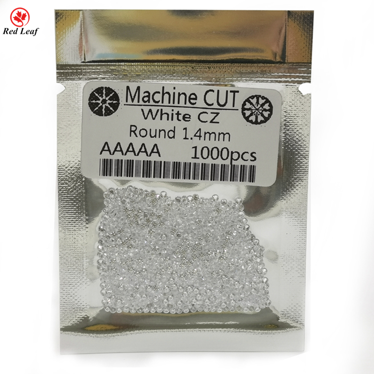 Fashion AAAAA Round White Small Size Cubic Zirconia Loose Gemstone