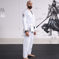 High quality White brazilian jiu jitsu uniform bjj gi Custom Made bjj kimono