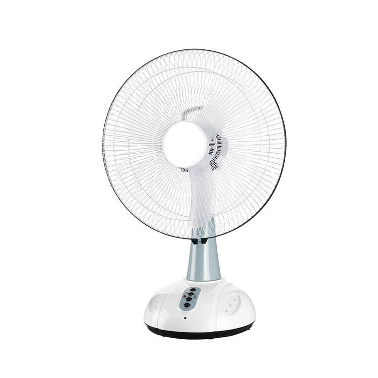 16 inch rechargeable Table Fan desk fan with led night