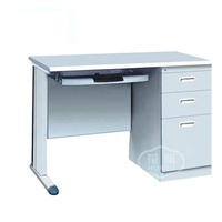 Top Sale Commercial Furniture knocked down computer desk table steel office table with 3 drawers