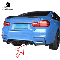 CAR BODY KIT FOR BMW F80 F82 M3 M4 V TYPE CARBON REAR DIFFUSER 2015+