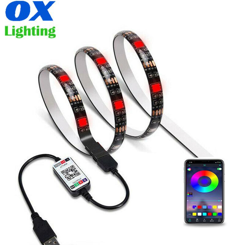 Smart Bluetooth APP TV Backlights USB 5V 5050 RGB LED Strip Light