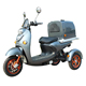Pizza Food Delivery Three Wheel Cargo Scooter Electric With Storage Box Container
