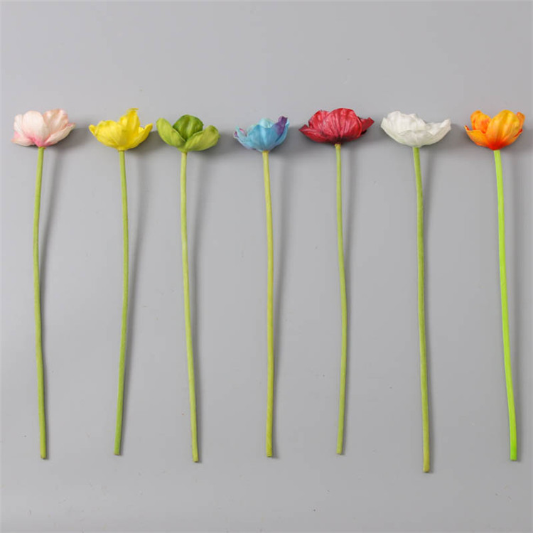 Wholesale artificial mini real touch PU latex poppy artificial flower