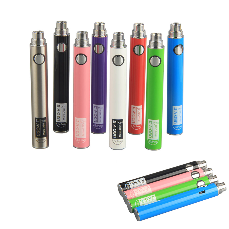 MIX color USB Charger High Quality 650 mah UGO <strong>V2</strong> <strong>Battery</strong> 510 Thread Cartridge UGO <strong>Battery</strong> VAPE Pen