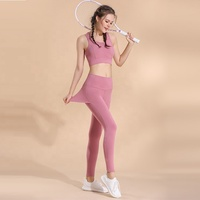 Hot Sexy Gym Running Girls Slim bar+pants Sport Suits For Female
