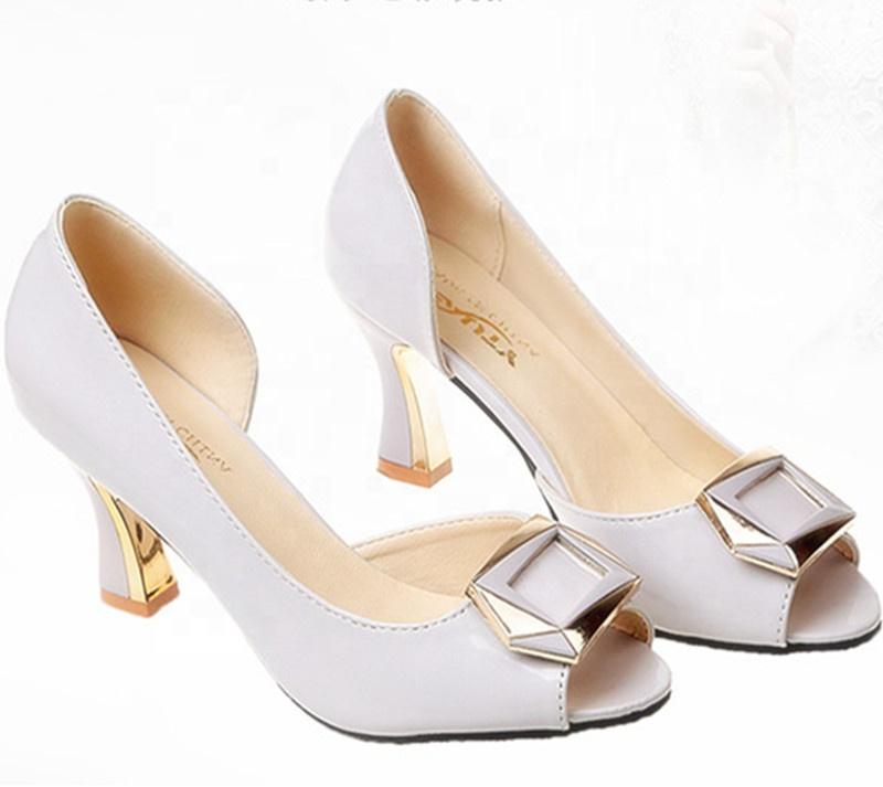 En Gros Thaïlande Chaussures En Daim Orteil Carré Bas Talon