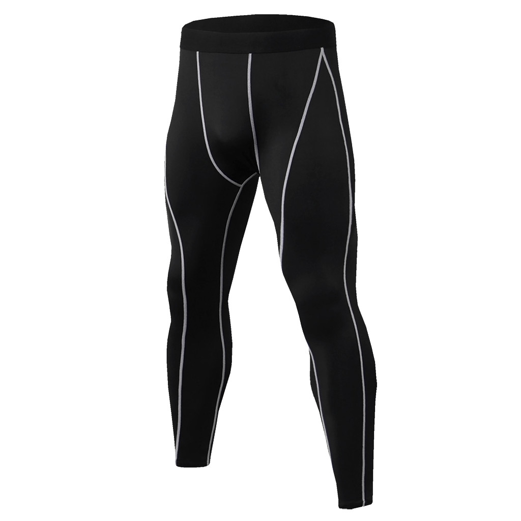 Running Sports Male Gym Fitness Pants Men Compression Tight Leggings  Quick Dry Training Yoga Bottoms