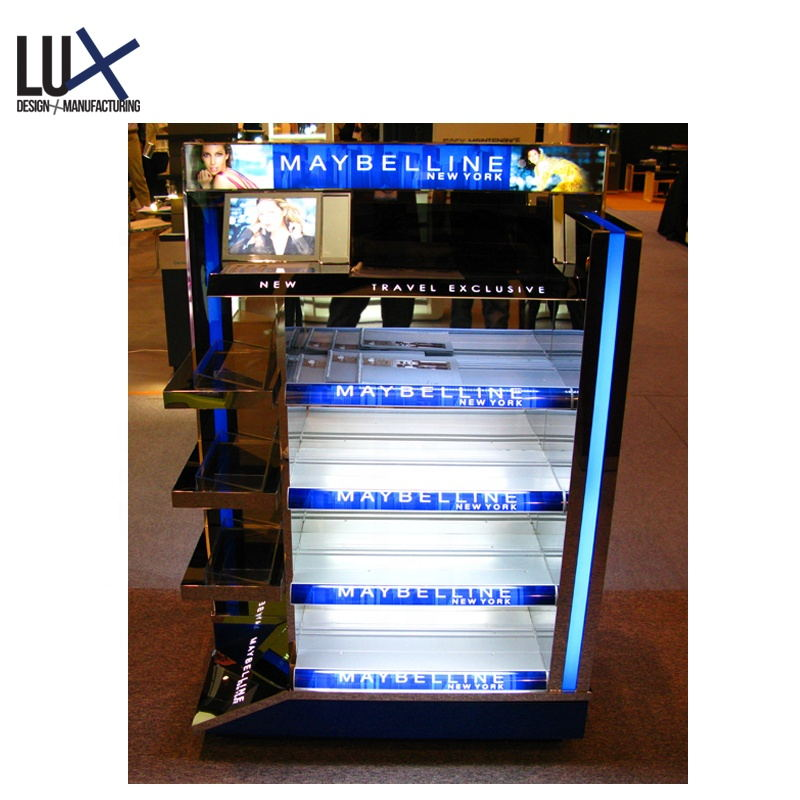 Customized Wooden Gondola Shelf Display Rack Supermarket Equipment