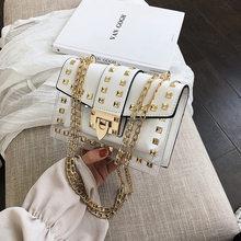 Роскошные женские сумки, дизайнерские модные сумки с заклепками, прозрачные сумки через плечо для женщин, 2020 маленькая посылка(Китай)
