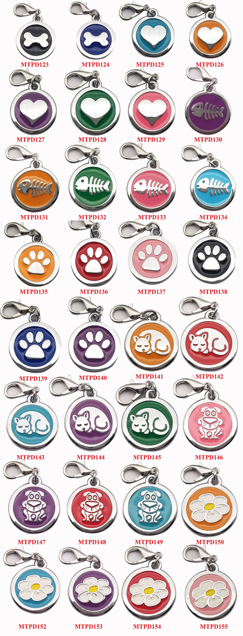 Flower Shape 25mm Round Custom Engrave Laser Dog Pet name ID Tag with Your Design