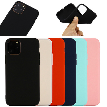 Ultra Slim Matte Candy Color Soft TPU Phone Case For iPhone 11 new case 5.8 inch cover