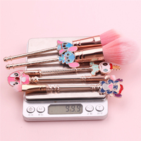 Ready to Ship In Stock Fast Dispatch Princess Tools carton gift Stitch Eyebrow Brush 5 pieces Makeup Brush Set