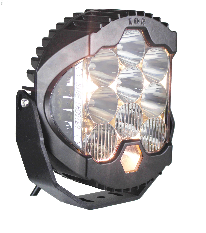 ออกแบบใหม่ High Beam 8 นิ้วแผนที่ 120W ไฟ LED ขับรถนักกีฬาด้านข้าง