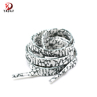 Outdoor Flat Polyester Pattern Rope Sneakers Shoelaces For Men and Women Sports