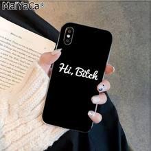MaiYaCa I'M не всегда BITCH Bonjour Bitches силиконовый чехол для телефона из ТПУ для Apple iphone 11 pro 8 7 66S Plus X XS MAX 5S SE XR(Китай)