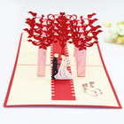 Wedding Gift Business Gift Greeting Card Creative Suburban Wedding Three-Dimensional Hollow Postcard Wedding Invitation Gift Greeting Card