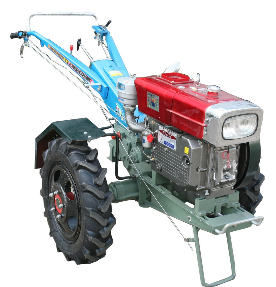 12HP Power Tiller Trailer Farm Walking Tractor 15hp Diesel Tractor Factory price