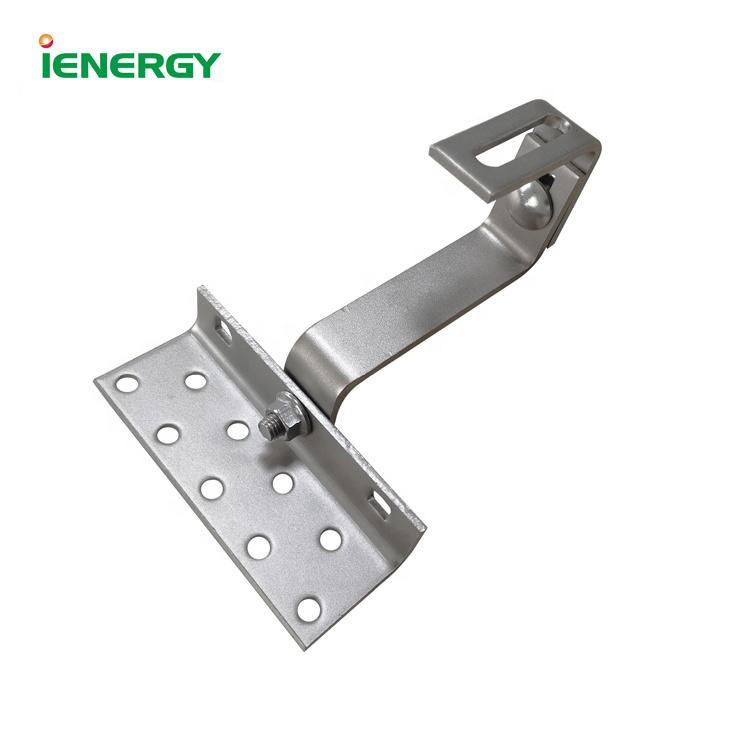 Rapid installation pv module mount roof solar bracket hook for tile roof