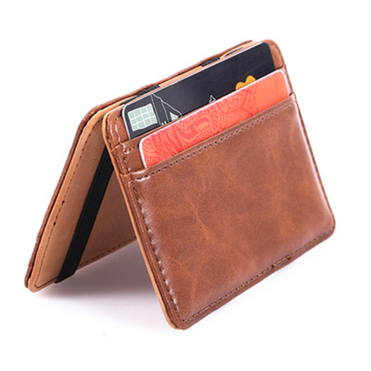 Online shopping China stocks card holder high quality PU magic <strong>wallet</strong> for man with coin pocket