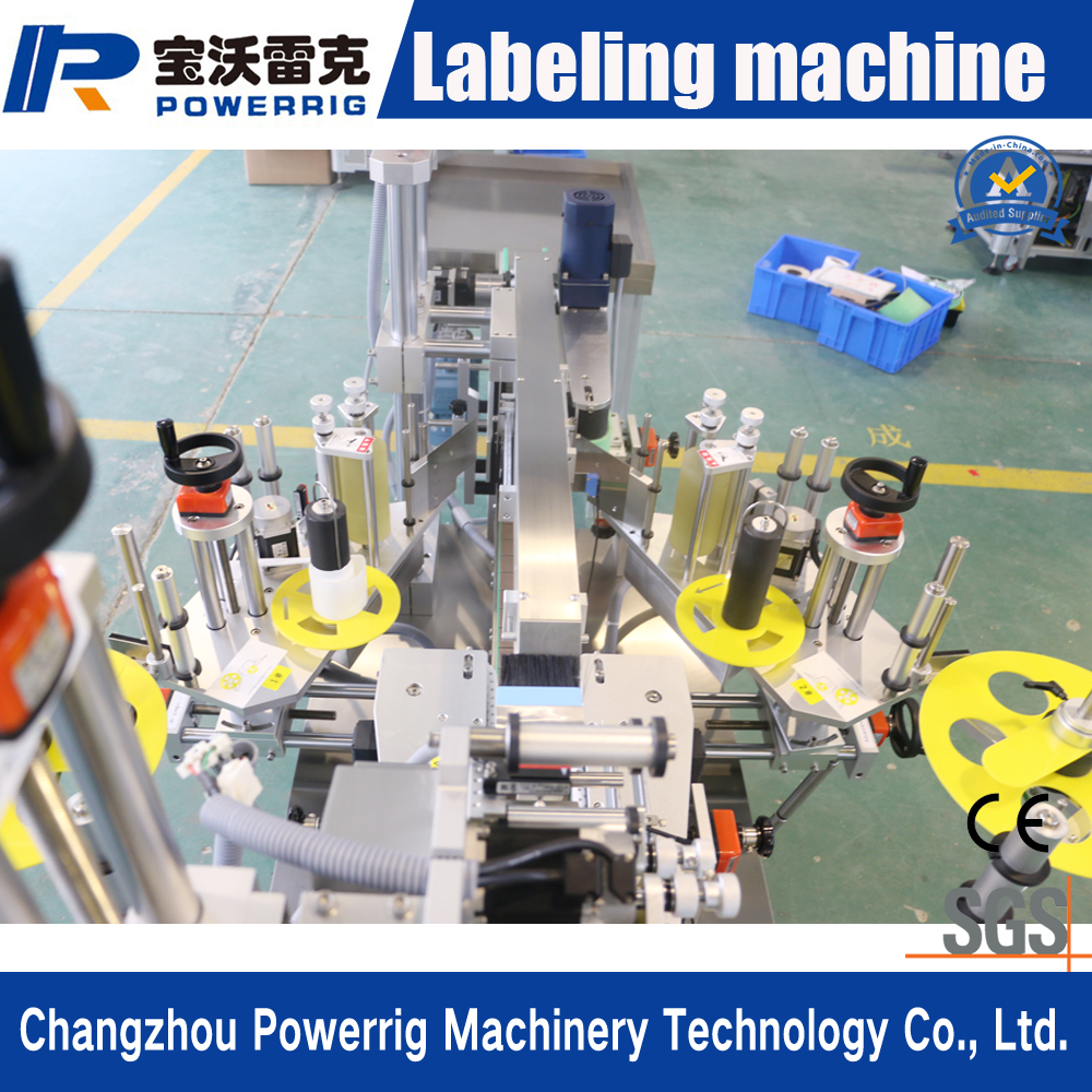 High Speed Electric Automatic Double Side Bottle Adhesive Sticker Labeling Machine with CE certification