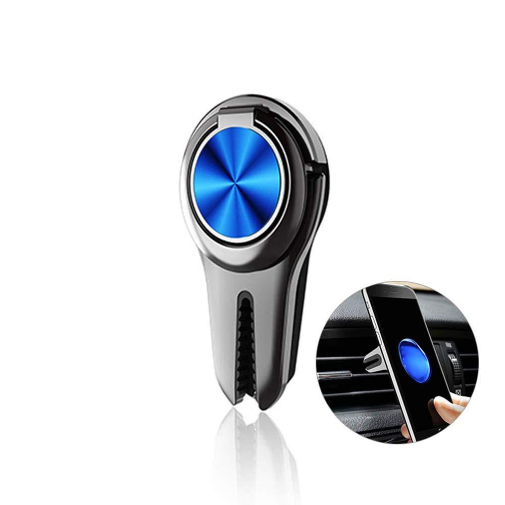 טלפון סלולרי תכליתי מתכת 2 ב 1 סוגר מסתובב טבעת מחזיק רכב Vent קליפ הר