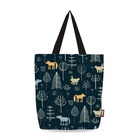 Ginzeal Accept Paypal Fashion Printed Cotton Canvas Tote Bag