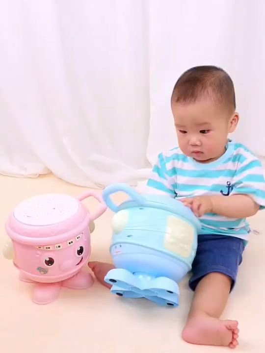 Multi-function Rotating Music Lighting Baby Hand Pat Drum Toys