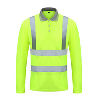 Best Selling Reflective Safety Work Shirts for Men High Visibility Short Sleeve T Shirts with Reflective Tape