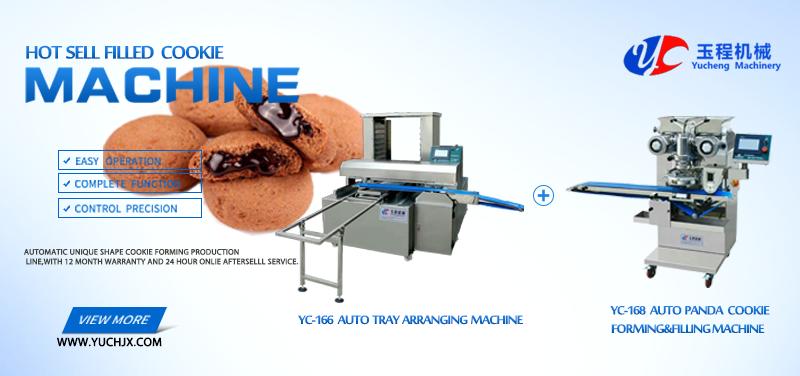 Rheon dubbele gevulde koekjes encrusting machine en vormen chocolade verwerking